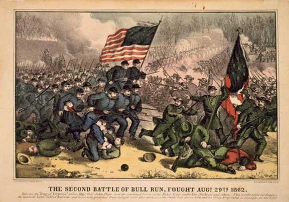 Battle of Bull Run lithograph