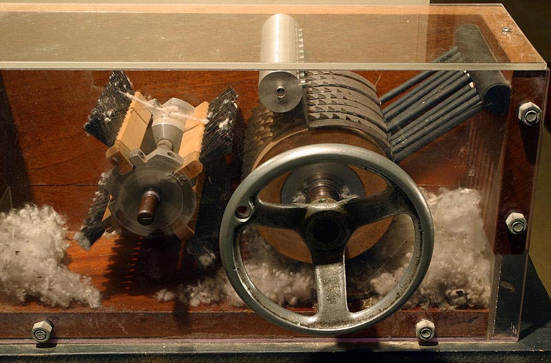 Cotton Gin model at Eli Whitney Museum
