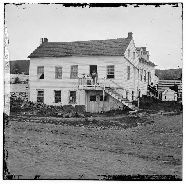 John L. Burns cottage at Gettysburg, July, 1863