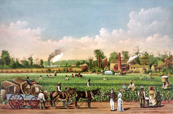 Cotton plantation on the Mississippi, Currier and Ives, 1884