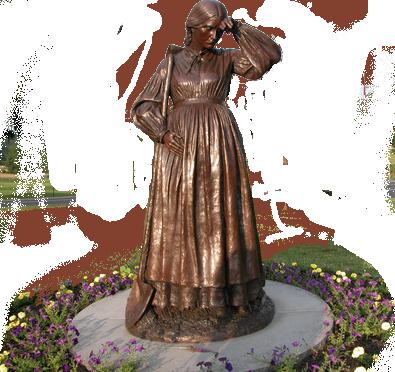 elizabeth thorn statue at Gettysburg