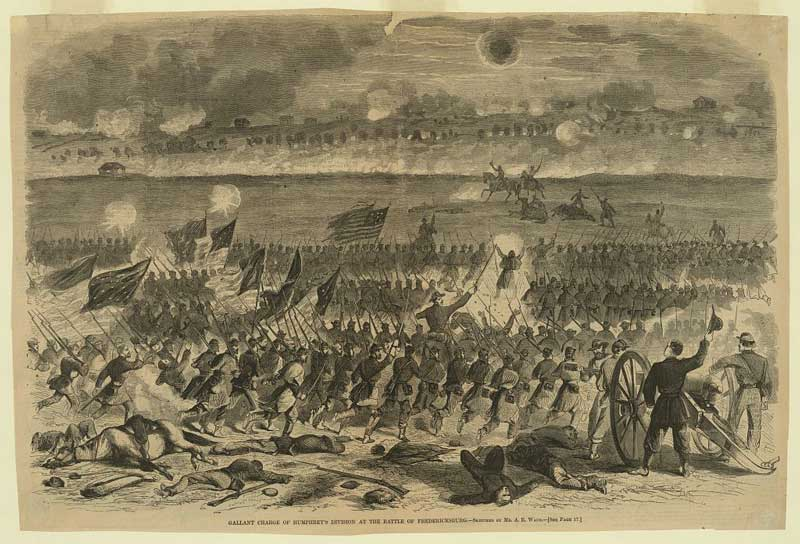 gallant-charge-of-humphrey's-division-at-the-battle-of-fredericksburg-by-a-waud