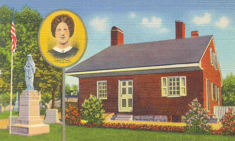 Jennie Wade House postcard