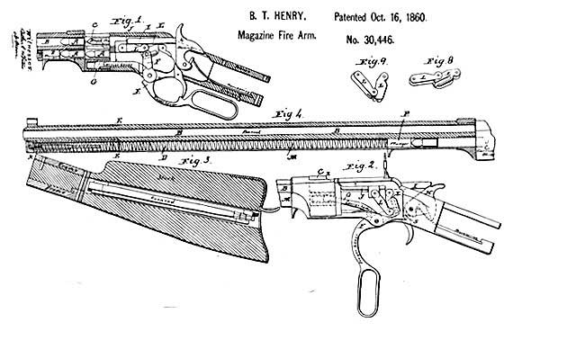 Sharps Rifle Drawings 1860 Henry 44 Caliber Rifle