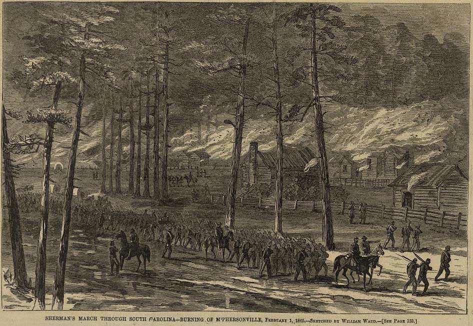 shermans-march-through-south-carolina-burning-of-mphersonville-february-1-1865