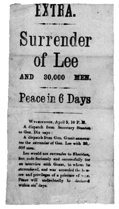 Surrender of Lee broadside