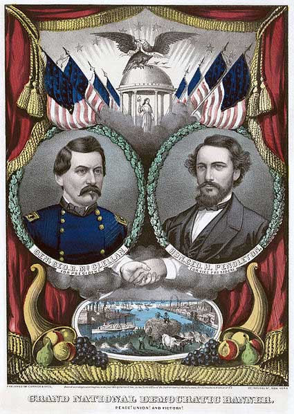 McClellan as Democratic Party candidate for president broadside