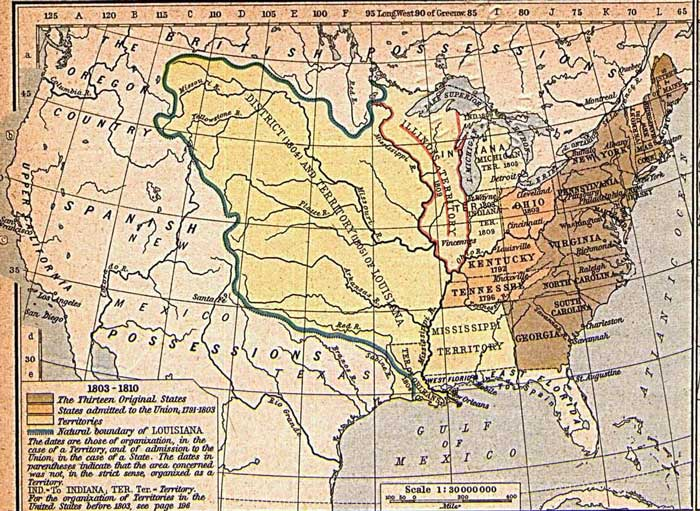 United States expansion, Shepherd, Louisiana Purchase