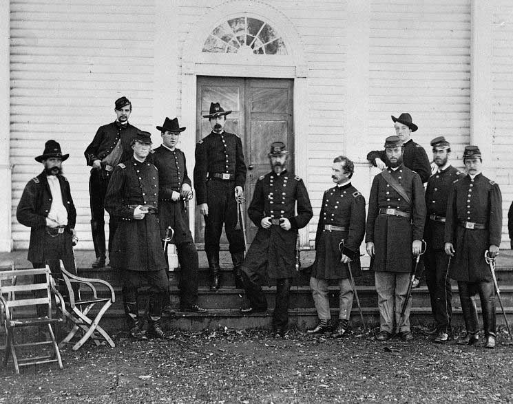 Major General Geo G Meade and staff 1863