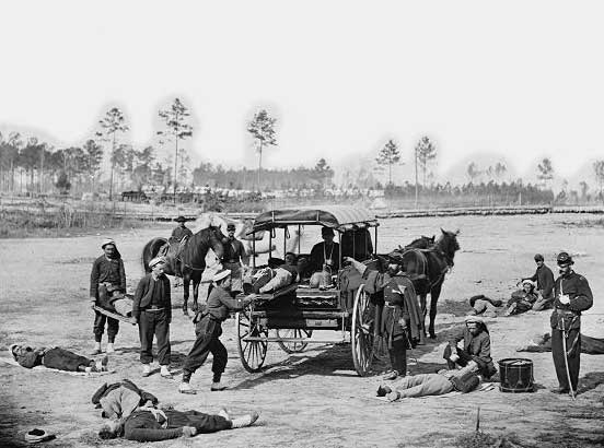 ambulance-drill-at-headquarters-army-of-potomac-near-brandy-station-virginia
