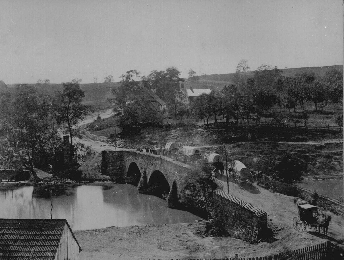 antietam-bridge-maryland-september-1862-soldiers-and-wagons-are-crossing-the-bridge-gardner