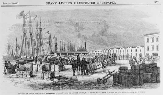 cotton-shipment-Savannah-Georgia-headed-for-New-York-February-25-1865-Frank-Leslies-Illustrated-Newspaper