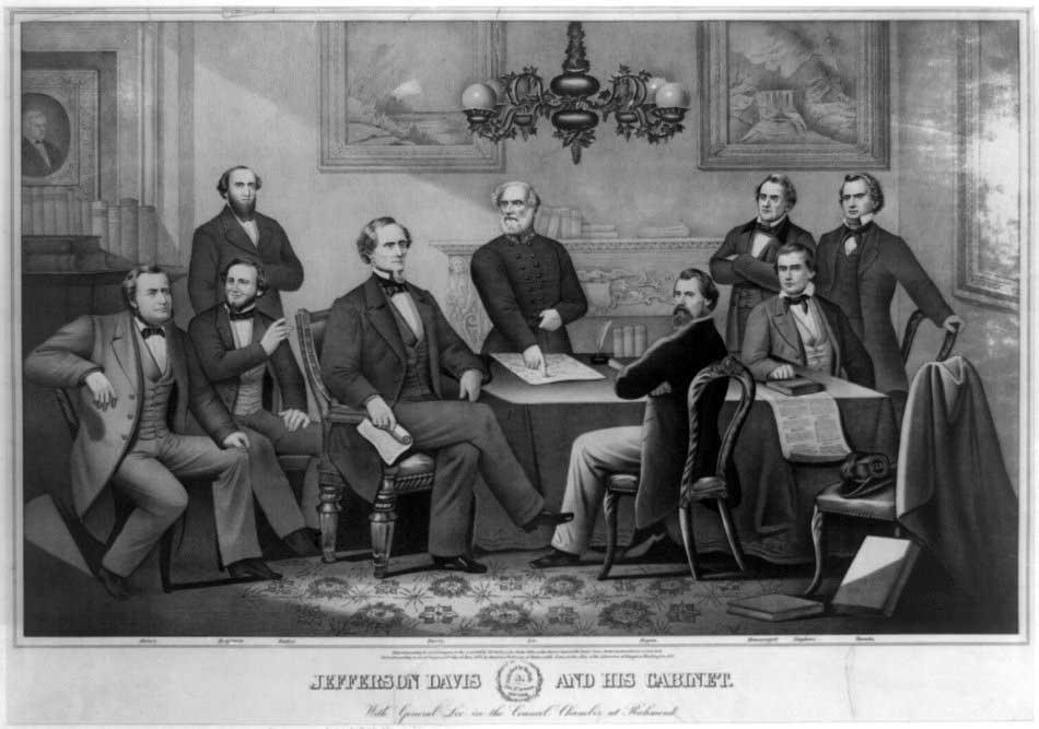 Jefferson Davis and his cabinet