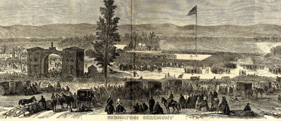 Dedication Ceremony, Frank Leslie's Illustrated Newspaper, December 5, 1863