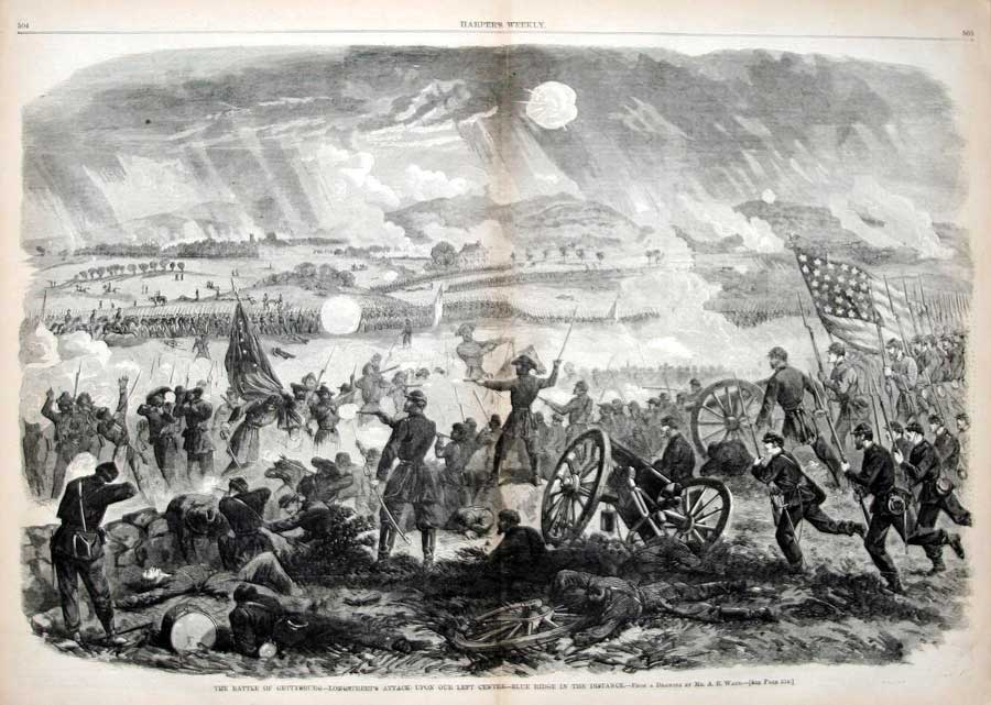 General Pickett's Charge, Harper's Weekly, August 8, 1863