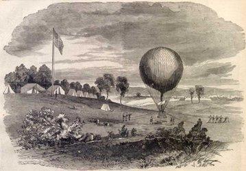 Battlefield reconnaissance by hot air balloon
